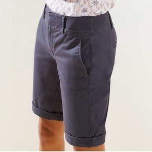 LOFT Petite Bermuda Roll Shorts